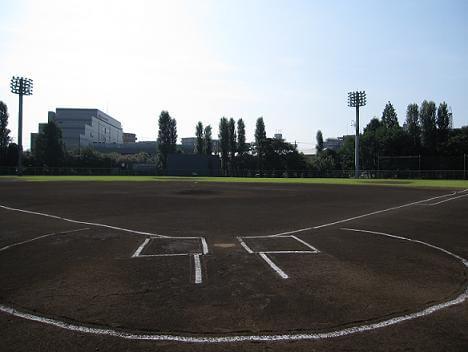 富士見公園内野球場