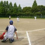 塚越公園内野球場
